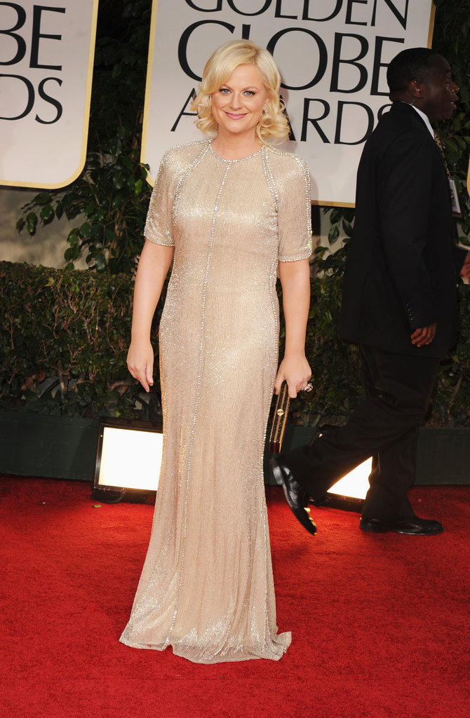 Amy Poehler had long sleeves for the Golden Globes.
