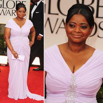 Octavia Spencer at Golden Globes 2012