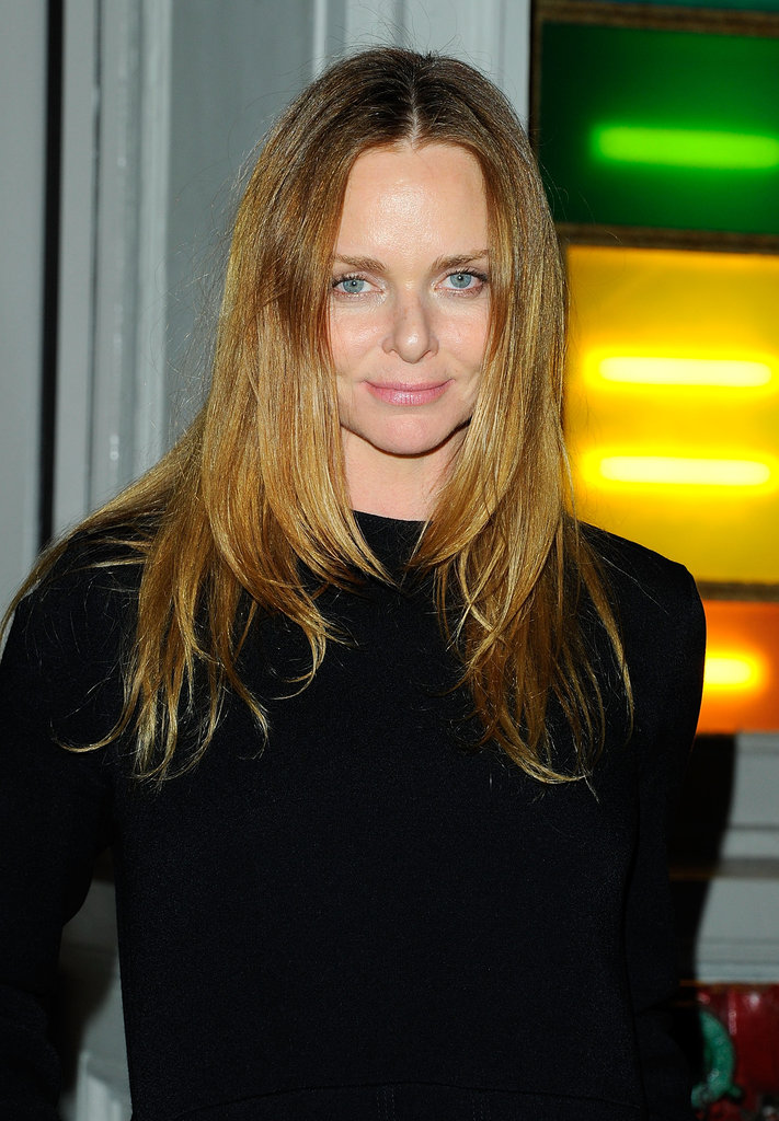 Stella McCartney posed in front of her new SoHo store.