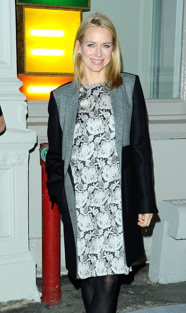 Naomi Watts smiled on her way to a fashion party in NYC.