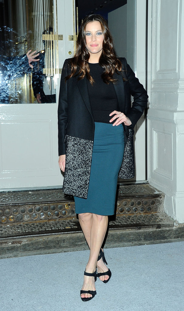 Liv Tyler arrived at Stella McCartney's new store opening.