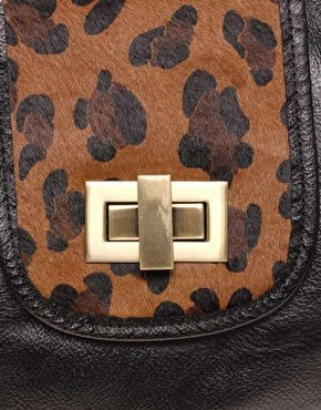 Oasis | Oasis Leopard Gladstone Bag at ASOS
