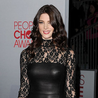 Ashley Greene Black Lace DKNY Dress Pictures at 2012 People's Choice Awards