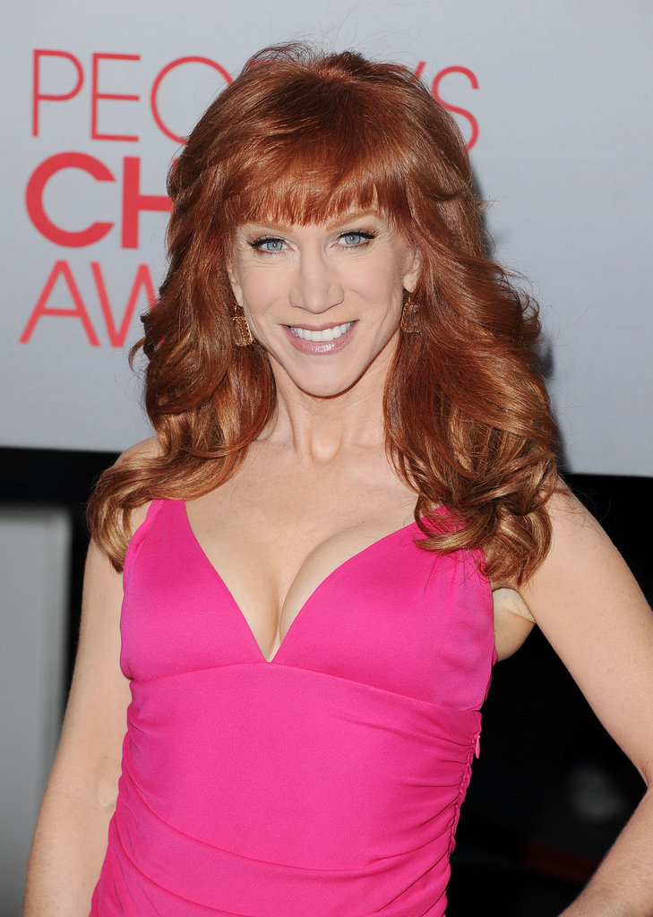 Kathy Griffin arrived at the People's Choice Awards.