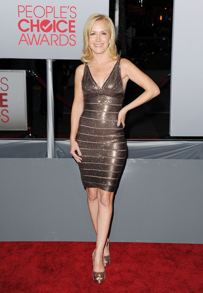 Angela Kinsey was in LA for the People's Choice Awards.