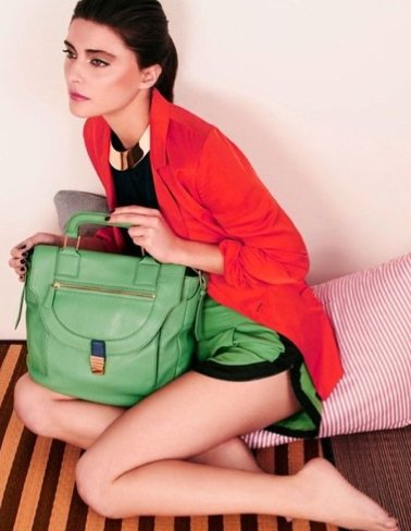 A sweet and structured green tote from Botkier. Source: Fashion Gone Rogue