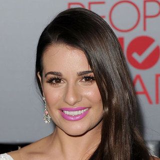 Lea Michele Wore Pink Lancome Lipstick to the People's Choice Awards