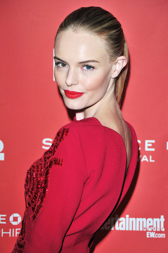 Kate Bosworth matched her lips to her dress.