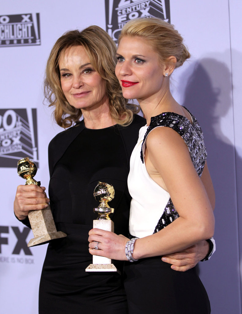 Jessica Lange and Claire Danes said hello at the Fox after party.