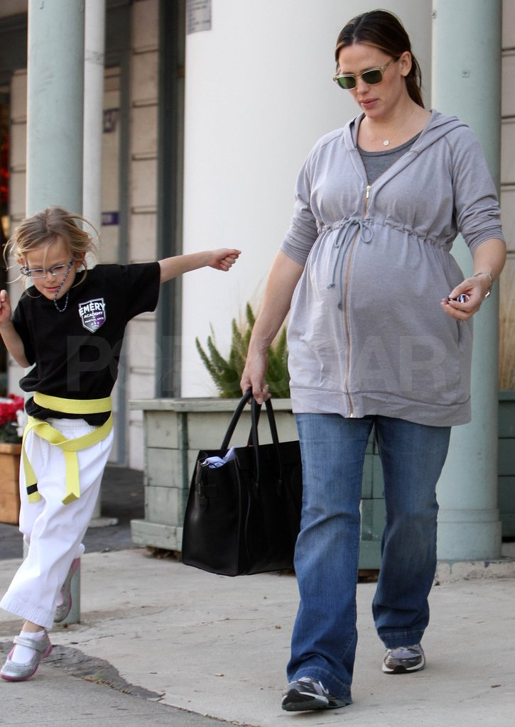 Violet sprinted toward the car following her karate class.