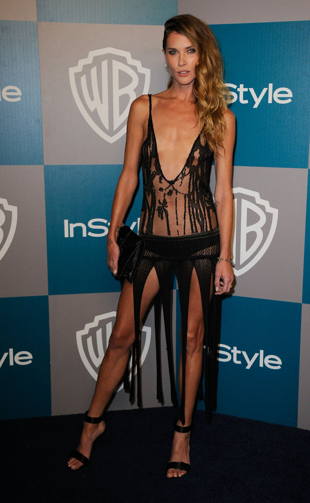Erin Wasson went to InStyle's Golden Globes afterparty in a barely there dress.