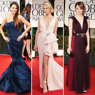 Top Trends on Golden Globes Red Carpet 2012