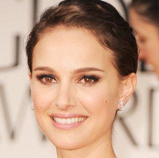 Natalie Portman's 2012 Golden Globes Hair and Makeup Look