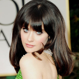 Zooey Deschanel's 2012 Golden Globes Hair and Makeup Look