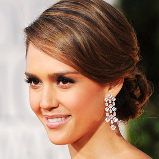 Jessica Alba's 2012 Golden Globes Hair and Makeup Look