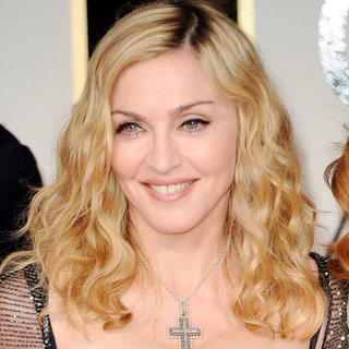 Madonna's 2012 Golden Globes Hair and Makeup Look