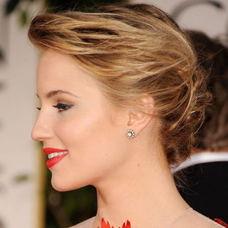 Glee's Dianna Agron's 2012 Golden Globes Hair and Makeup Look