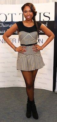 Designer of Jennifer Hudson's Black and White Striped Dress