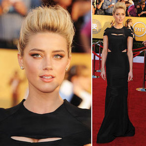 Amber Heard Wears Sexy Cut-Out Zac Posen Dress on the Red Carpet at the 2012 SAG Awards