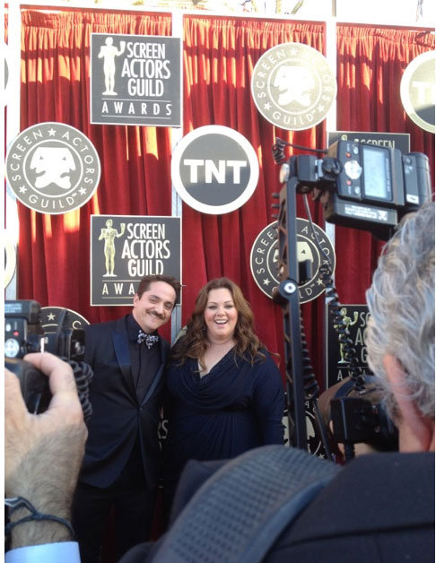Melissa McCarthy looks radiant on the red carpet. Twitter User: SAGawards