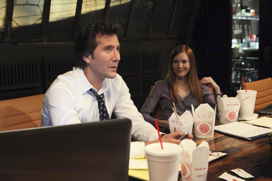 Henry Ian Cusick and Darby Stanchfield in Scandal.