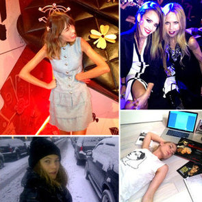Pictures of Celebrities and Models on Twitter Jan. 24, 2012