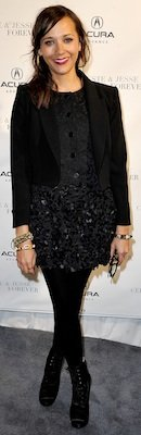 Rashida Jones in Black at Sundance 2012