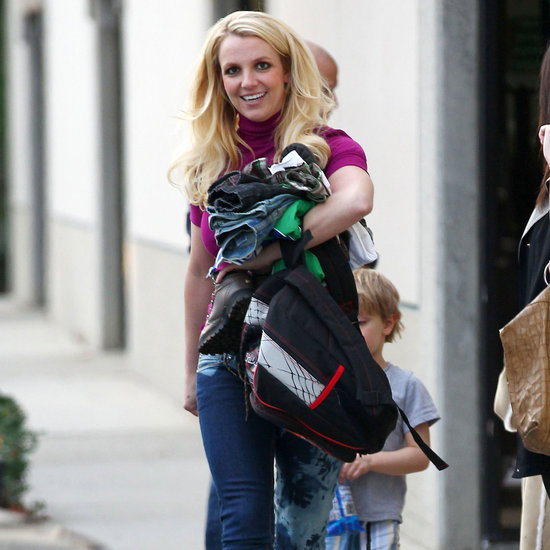 Britney Spears Pictures at School With Sean and Jayden