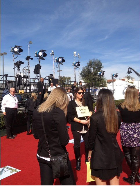 The red carpet crew gears up for the celebrity arrivals. Twitter User: SAGawards