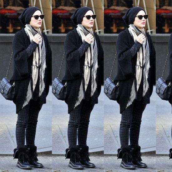 Marion Cotillard Houndstooth Jeans