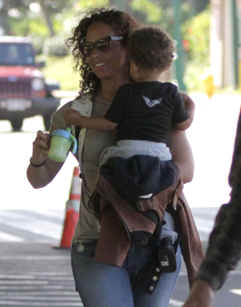 Alicia kept Egypt's sippy cup handy.