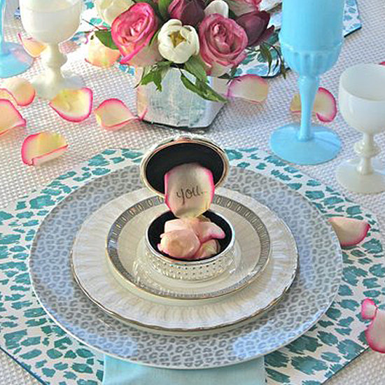 Animal Print Valentine's Day Table Decor