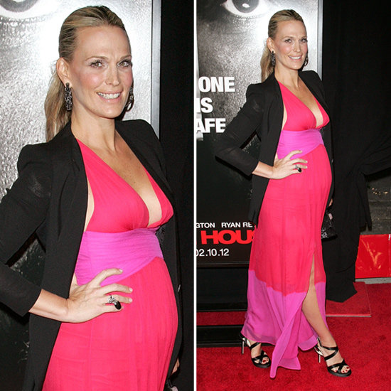 Molly Sims Red and Pink Maxi Dress
