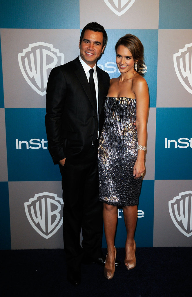 Cash Warren and Jessica Alba