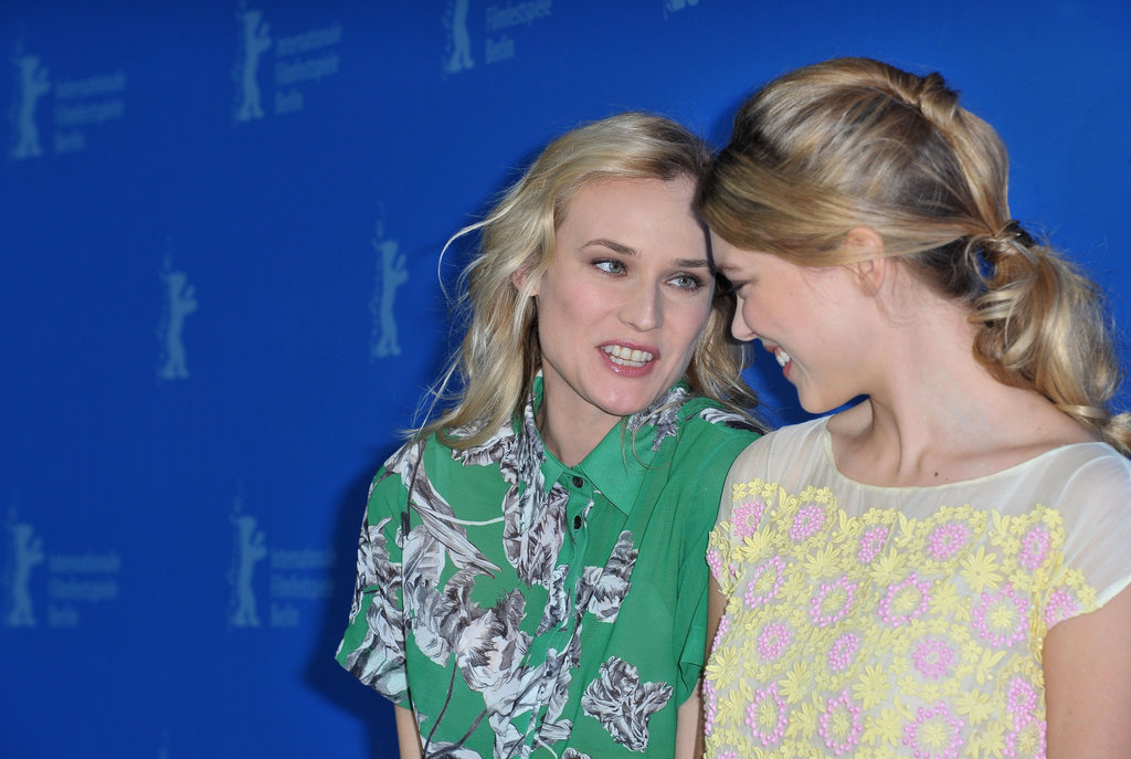 Diane Kruger chatted with her Farewell, My Queen co-star Léa Seydoux.