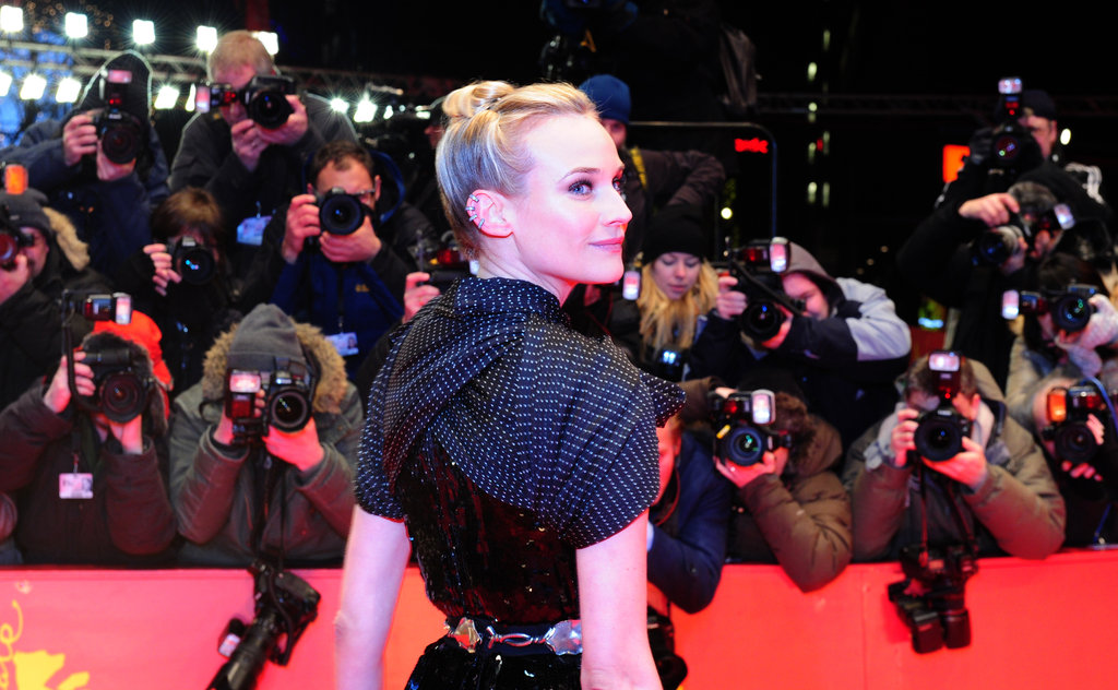 Photographers captured Diane Kruger's dress from every angle.