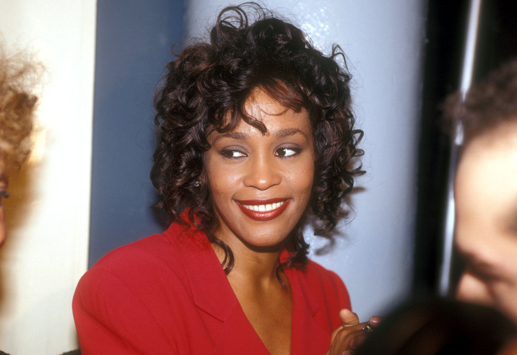 Whitney wore red in 1990.