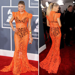 Fergie Wears Jean Paul Gaultier Couture Lace Cut-Out Gown at the 2012 Grammy Awards: Like or Loathe It?