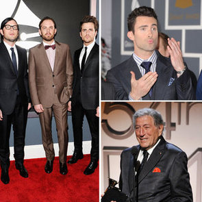 What the Men Wore to the 2012 Grammy Awards Including David Guetta, Ryan Seacrest, Adam Levine & More!