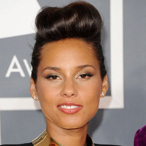 Alicia Keys' Hair and Makeup at the 2012 Grammy Awards
