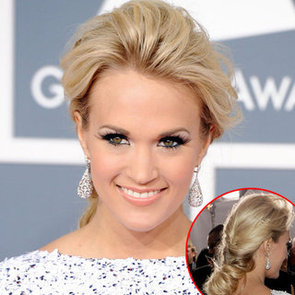 Carrie Underwood's Hair and Makeup Look at the 2012 Grammy Awards