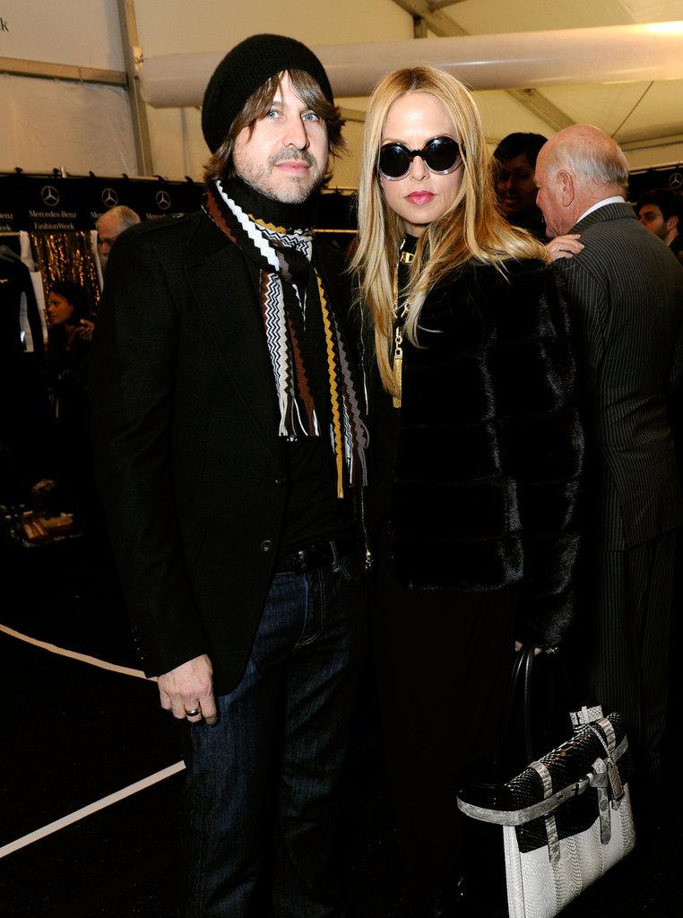 Rodger Berman joined Rachel Zoe for the fashionable festivities.