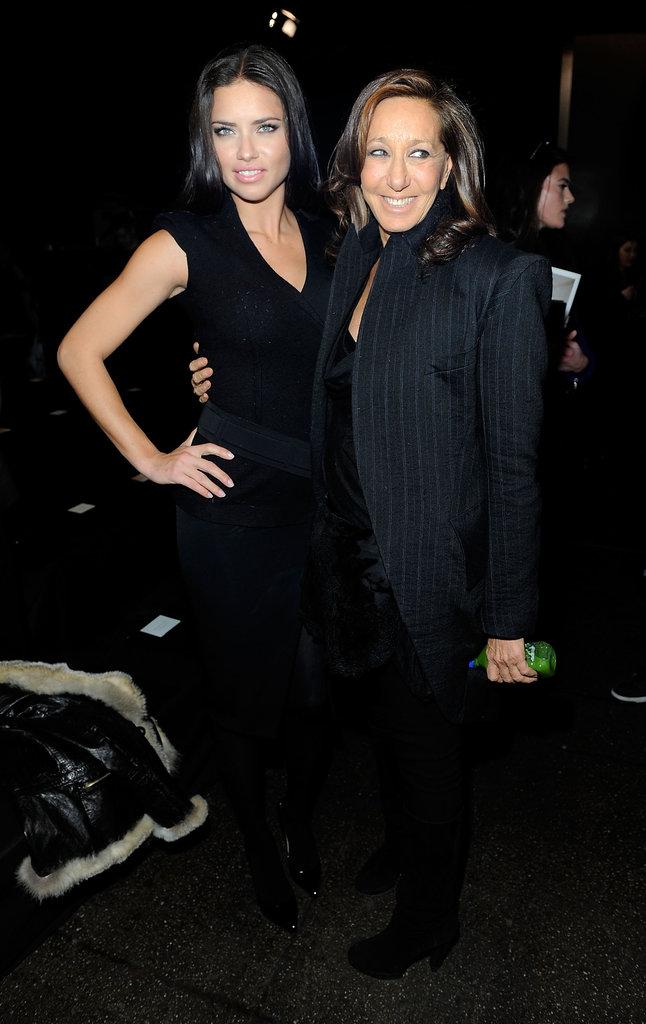 Adriana Lima and Donna Karan