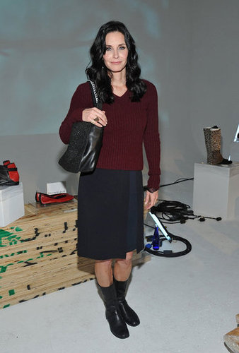 Courteney Cox checked out Fashion Week.