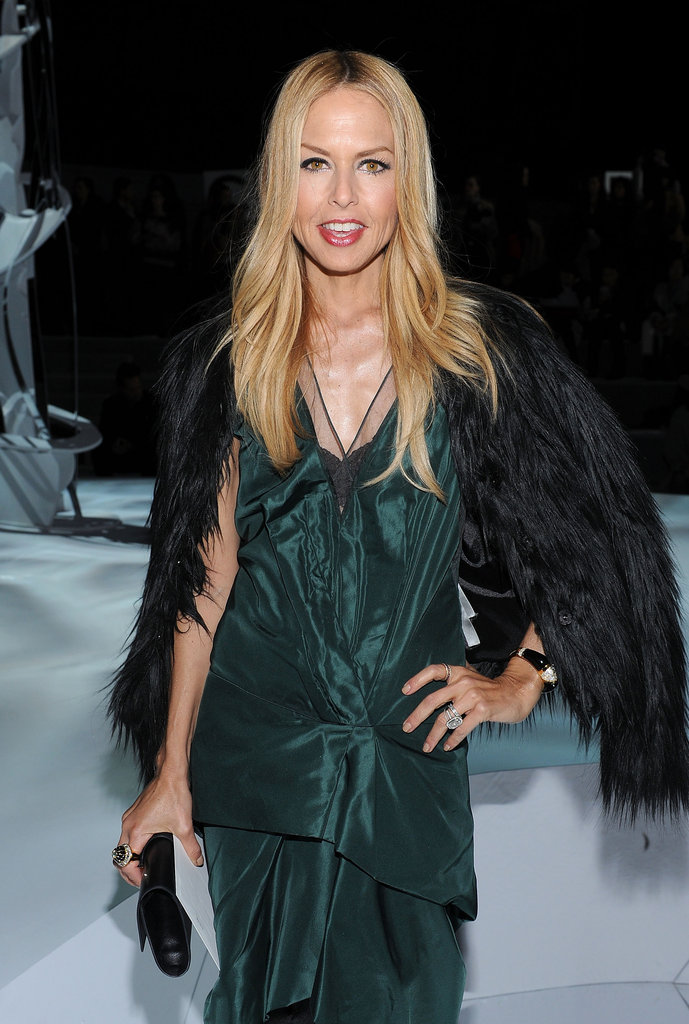 Rachel Zoe posed for a picture at Marc Jacobs.