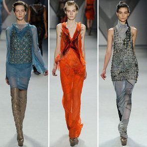 Review and Pictures of Vera Wang's 2012 Fall New York Fashion Week Runway Show