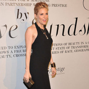 Pregnant Sienna Miller Baby Bump Pictures at W Magazine Event