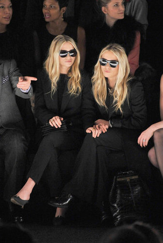 Mary-Kate and Ashley Olsen in the front row at J. Mendel.