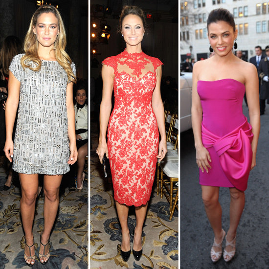 Stacy Keibler, Bar Refaeli, and Jenna Dewan Dress Up For Marchesa