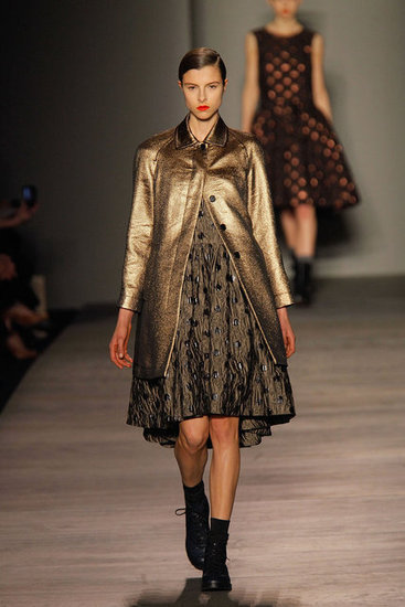 A gold coat from Marc by Marc Jacobs.